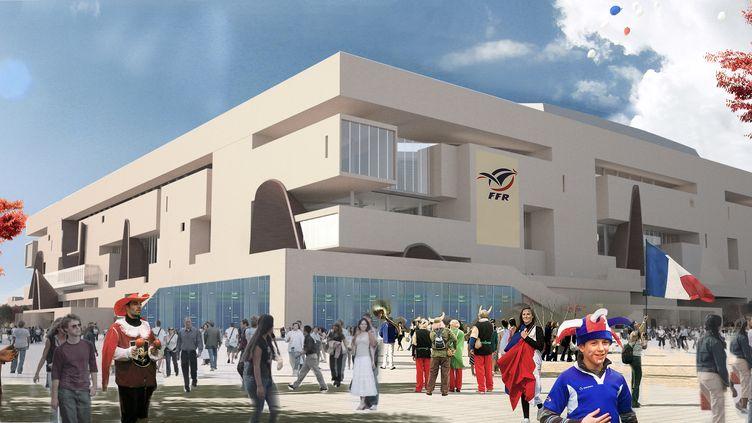 Le projet de Grand stade de rugby à Ris-Orangis (Essonne). (POPULOUS ARCHITECTS  / FFR)