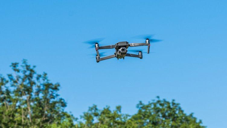 L'armée de l'air, le Cnes et le groupe Aéroports de Paris (ADP) ont annoncé,le 3 mai 2021, qu'ils allaient coopérer en matière de lutte contre les drones (photo d'illustration). (VOISIN / PHANIE / AFP)
