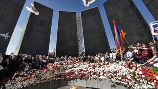 Le mémorial du génocide arménien à Erevan (Arménie), photographié le 24 avril 2014. (TIGRAN MEHRABYAN / RIA NOVOSTI)