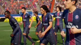 """Les joueurs du Paris-Saint-Germain dans le jeu vidéo """"Fifa 17"""". (EA SPORTS)"""