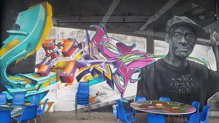 L'Aérosol : un lieu entièrement dédié au street art dans le 18e arrondissement de Paris.  (L'aérosol)