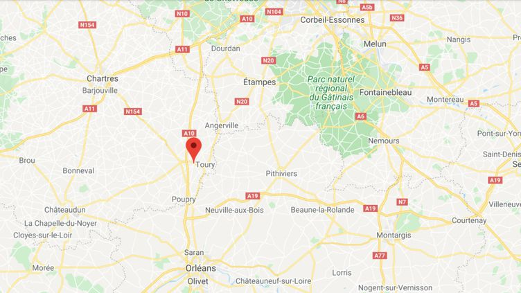 Janville-en-Beauce (Eure-et-Loir). (CAPTURE D'ECRAN GOOGLE MAPS)