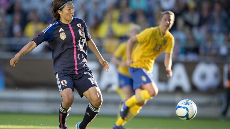 Yuki Nagasato, ici avec l'équipe du Japon en 2012, va être prétée par son club américain de football féminin à une équipe masculine au Japon. (BJORN LARSSON ROSVALL / SCANPIX-SWEDEN)