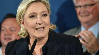 La présidente du FN, Marine Le Pen, après le second tour des législatives, le 18 juin 2017, à Hénin-Beaumont (Pas-de-Calais). (DENIS CHARLET / AFP)