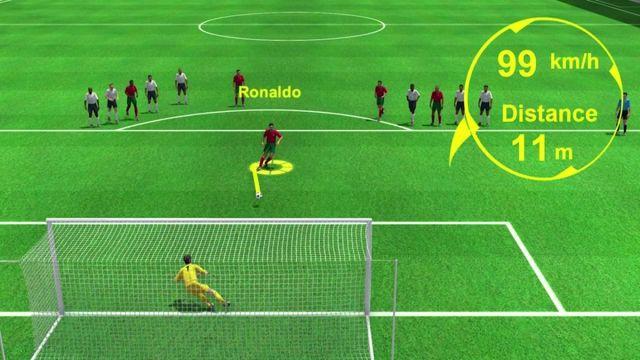 Le premier pénalty de Cristiano Ronaldo face à la France