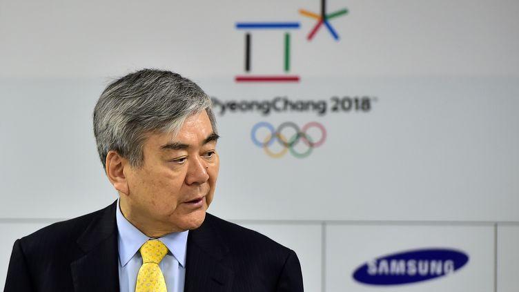 Le responsable du comité d'organisation des jeux d'hiver 2018, Cho Yang-Ho, a démissionné (JUNG YEON-JE / AFP)