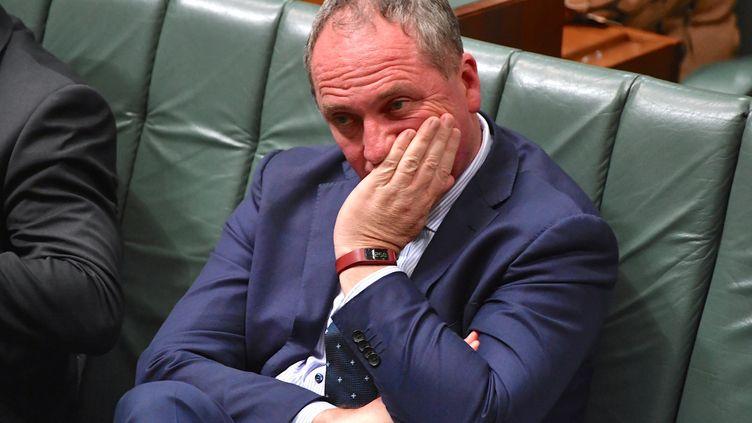 Le Premier ministre adjoint australien, Barnaby Joyce, assiste à une séance parlementaire, le 25 octobre 2017, à Canberra (Australie). (REUTERS)