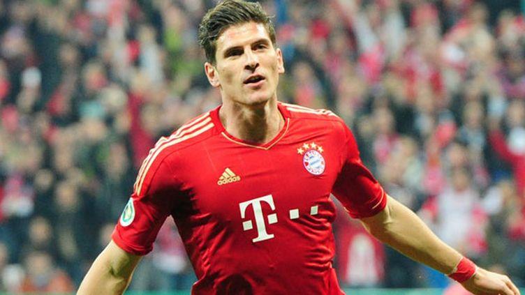 L'attaquant du Bayern Munich, Mario Gomez
