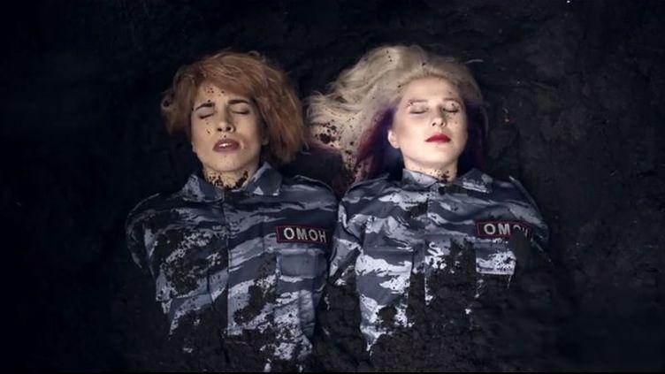 """Capture d'écran extraite de la vidéo""""I Can't Breathe"""" des Pussy Riot (PUSSYRIOTVIDEO / YOUTUBE)"""