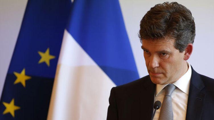 (Le ministre de l'Economie Arnaud Montebourg, qui s'exprimait vendredi avant une décision d'Alstom attendue au plus tard lundi, a annoncé que l'Etat rachèterait 20% du capital d'Alstom auprès de Bouygues © Reuters / Benoit Tessier)