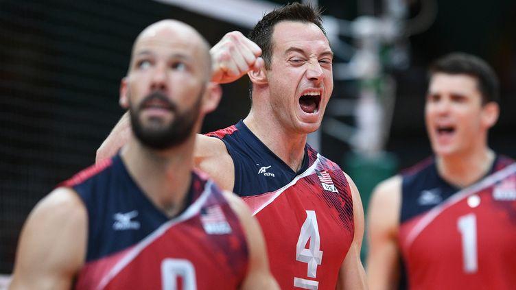 Les Américains décrochent la médaille de bronze du tournoi de volley (JOHANNES EISELE / AFP)