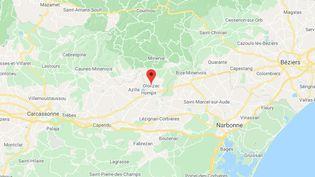 Olonzac dans l'Hérault (GOOGLE MAPS)