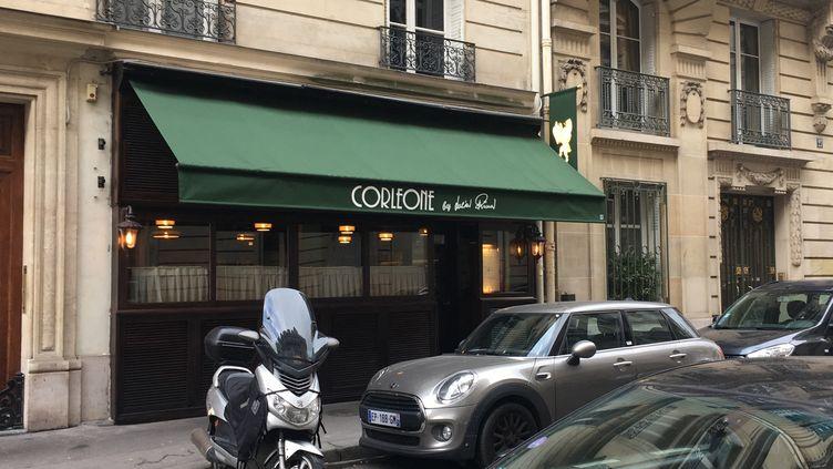 Le restaurant de Lucia Riina dans le 8e arrondissement de Paris. (ESTHER GYARMATHY / RADIO FRANCE)