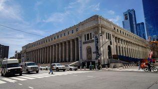 Le bâtiment loué par Facebook près de Penn Station à Manhattan, le 20 août 2020. (JOHN NACION / NURPHOTO / AFP)