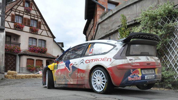 Loeb (Citroën) attaque dans son Alsace natale