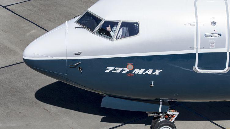 Le cockpit d'un B737 MAX sur l'aéroport de Renton (USA), le 16 mars 2018. (STEPHEN BRASHEAR / GETTY IMAGES NORTH AMERICA)