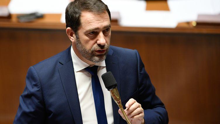 Christophe Castaner, secrétaire d'Etat des relations au Parlement, à l'Assemblée nationale, le 12 décembre 2017. (LIONEL BONAVENTURE / AFP)