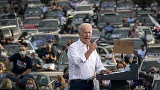 Joe Biden le 27 octobre à Atlanta en Géorgie.  (DREW ANGERER / GETTY IMAGES NORTH AMERICA)