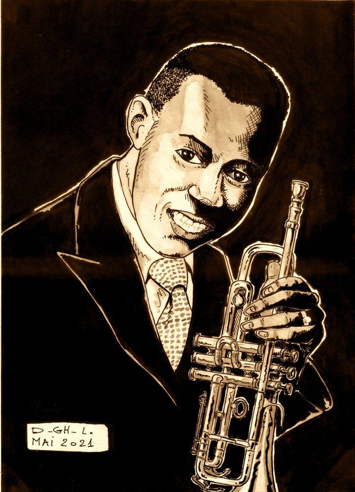 Louis Armstrong (Dessin de Denys Legros)
