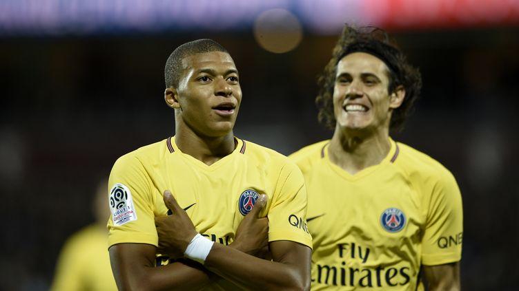 Premier match et premier but pour Kylian Mbappé avec le Paris Saint-Germain (JEAN-CHRISTOPHE VERHAEGEN / AFP)