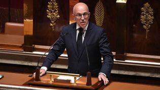 Le député LR des Alpes-Maritimes Eric Ciotti, le 28 avril 2020 à l'Assemblée nationale, à Paris. (DAVID NIVIERE / AFP)