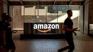 Les bureaux d'Amazon à Toronto (Canada), le 2 août 2019. (DAVID HIMBERT / HANS LUCAS / AFP)