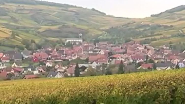 Village de Westhalten, dans le Haut-Rhin (FRANCE 3)