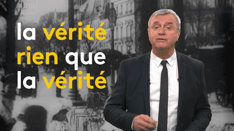 """Hervé Brusini présente """"Retour vers le futur de l'info"""". (FRANCEINFO)"""