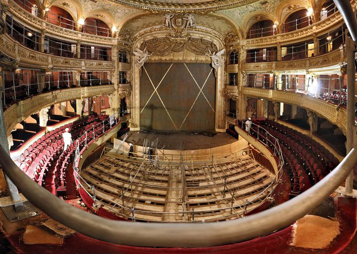 L'Opéra comique en travaux.  (Stefan Brion pour l'Opéra comique)
