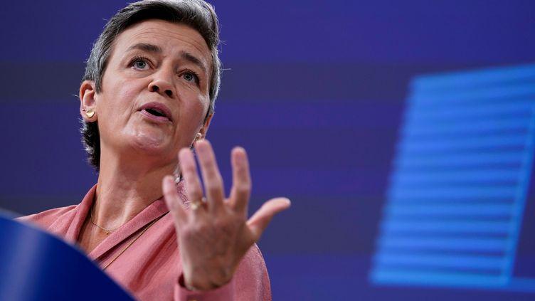 Margrethe Vestager, vice-présidente exécutive de la Commission de l'UE,évaluerasi l'opération aura un impact négatif sur le marché de l'automobile. Juin 2020 (KENZO TRIBOUILLARD / POOL)