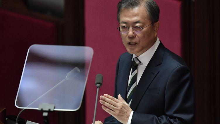Le président sud-coréen Moon Jae-in. (JUNG YEON-JE / POOL)