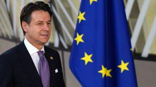 Le président du Conseil italien Giuseppe Conte à Bruxelles, le 18 octobre 2018. (ALEXEY VITVITSKY / SPUTNIK / AFP)
