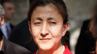 Femme politique franco-colombienne, ex-candidate à la présidentielle en 2002 en Colombie, Ingrid Bétancourt a passé six ans comme otage des Farc dans la jungle. (THOMAS PADILLA / MAXPPP)