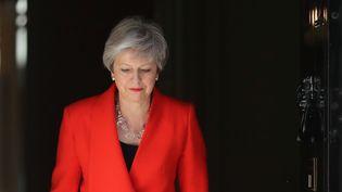 La Première ministre britannique, Theresa May, avant l'annonce de sa démission, à Londres, le 24 mai 2019. (SIMON DAWSON / REUTERS)