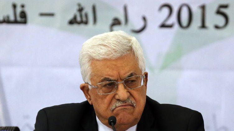 Le leader palestinien Mahmoud Abbas, le 4 mars 2015 à Ramallah. (ABBAS MOMANI / AFP)