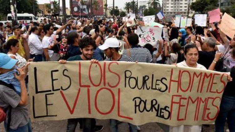Marche contre le harcèlement sexuel à Casablanca (Maroc), en août 2017. (AFP)