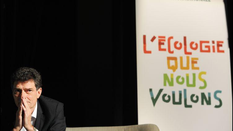 Pascal Durand, secrétaire national d'Europe Ecologie-Les Verts, le 22 mai 2013 à Paris. (ERIC BAUDET / JDD / SIPA)