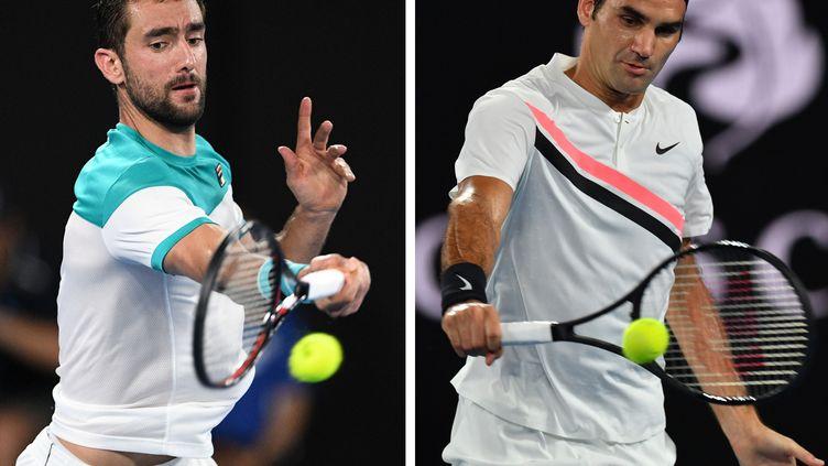Duel au sommet entre Marin Cilic et Roger Federer lors de la finale de l'Open d'Australie (WILLIAM WEST/SAEED KHAN / AFP)