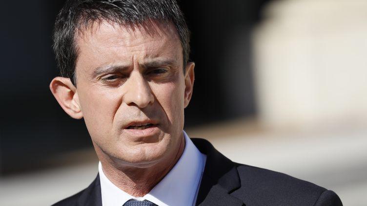 Manuel Valls s'exprimait lors d'un déplacement dans son fief d'Evry (THOMAS SAMSON / AFP)