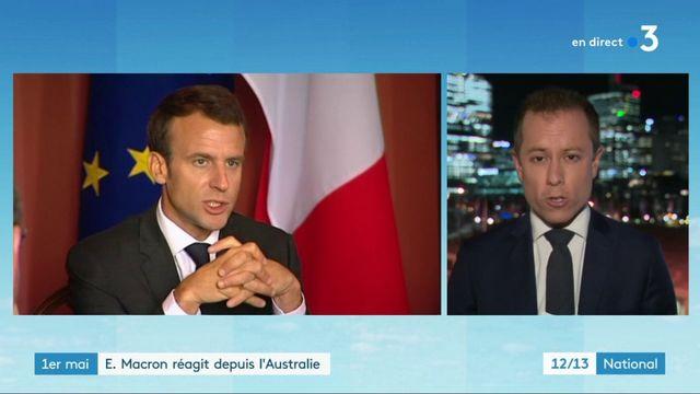 1er-Mai : Emmanuel Macron réagit depuis l'Australie
