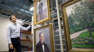 Trois des cinq oeuvres de Gustave Caillebotte léguées au musée d'Orsay par Marie-Jeanne Daurelle (4 septembre 2019) (LP/OLIVIER ARANDEL / MAXPPP)