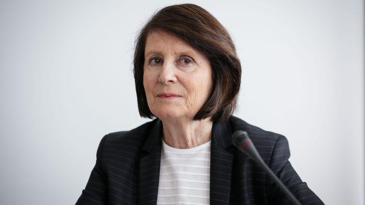 La présidente de la Commission nationale consultative des droits de l'homme,Christine Lazerges, le 2 mai 2016. (MAXPPP)