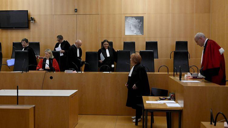 La première audiencede la cour criminelle expérimentaleà Caen (Calvados), le 5 septembre 2019. (MAXPPP)