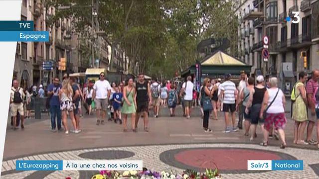 Eurozapping : émotion à Barcelone, un an après les attentats