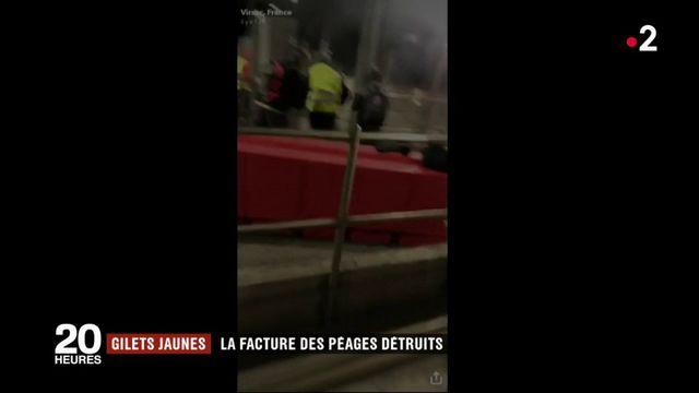 """""""Gilets jaunes"""" : la facture des péages détruits pour les automobilistes ?"""