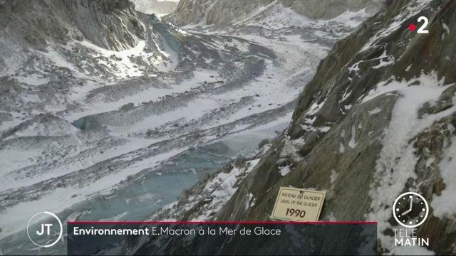 Environnement : Macron à la Mer de Glace pour promouvoir son virage écologique