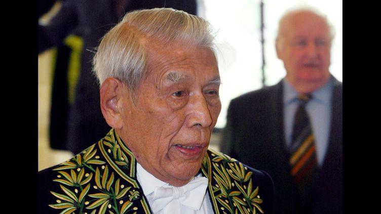 Chu Teh-Chun le 9 octobre 2002 à l'Institut de France  (Jacques Demarthon / AFP)