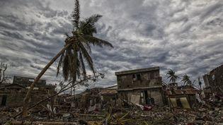 La ville deJeremie, en Haïti, dévastée par l'ouragan Matthew, le 6 octobre 2016. (LOGAN ABASSI / UN/MINUSTAH / AFP)