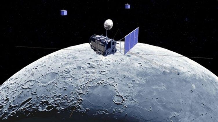 Illlustration réalisée par l'agence japonaise JAXA, montrant une image d'observation de la Lune par la sonde Kaguya. (AFP/JAXA-Ho)