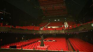 La salle de l'Olympia à Paris, vide en mai 2020. (BERTRAND GUAY / AFP)